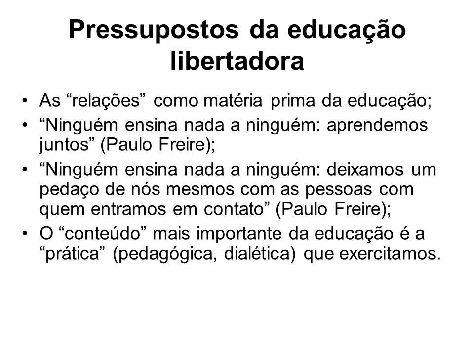 Pressupostos da educação libertadora