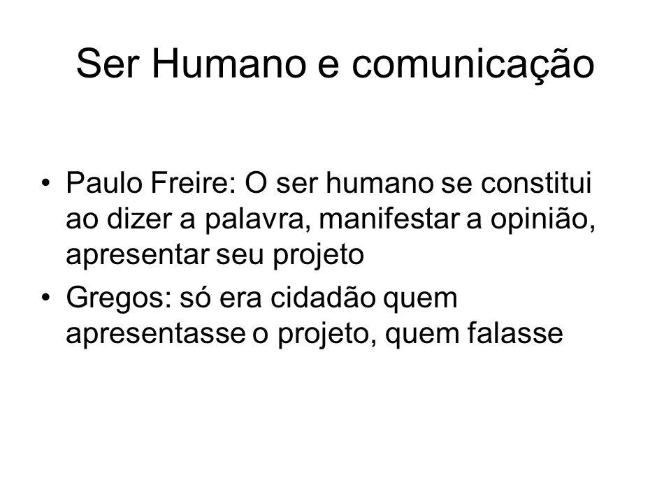 Ser Humano e comunicação
