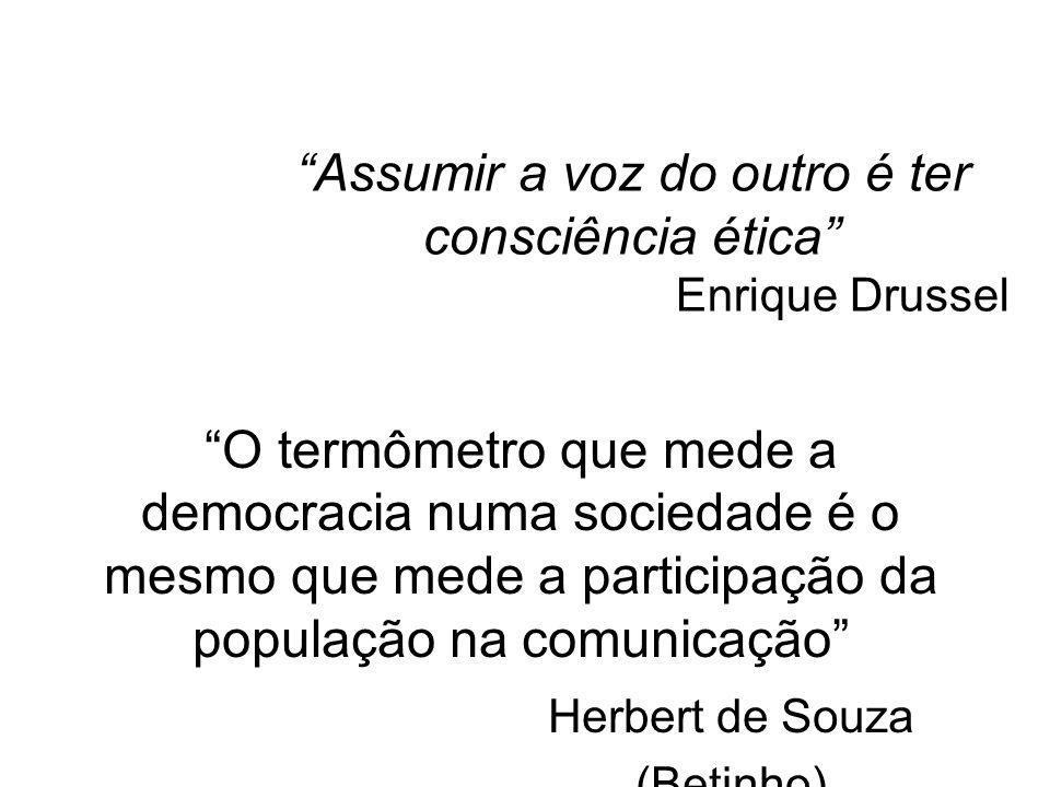 Assumir a voz do outro é ter consciência ética Enrique Drussel