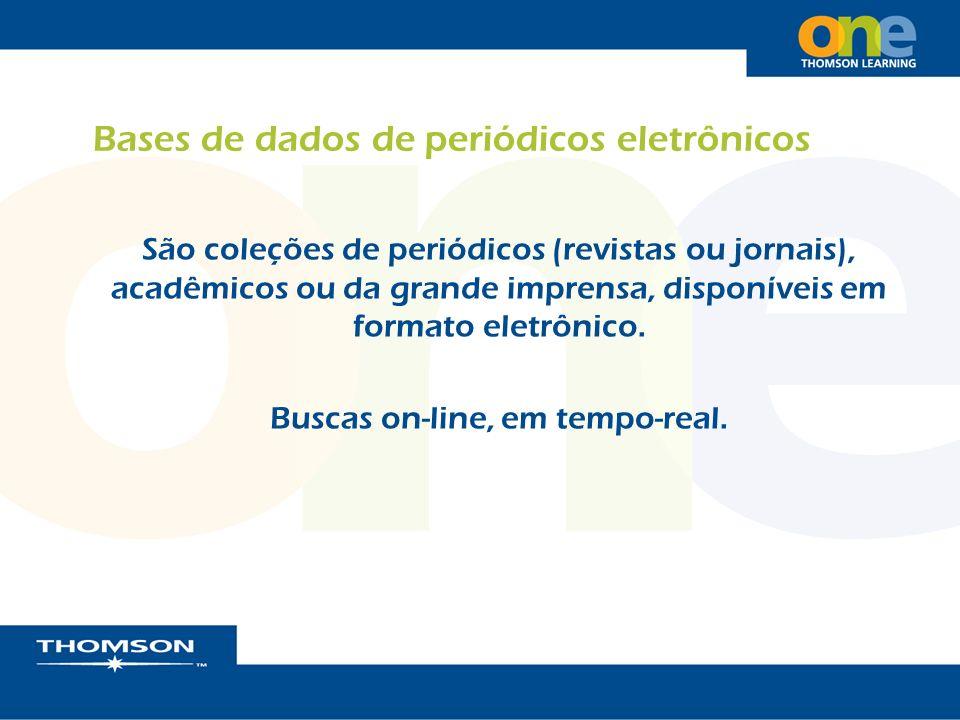 Bases de dados de periódicos eletrônicos