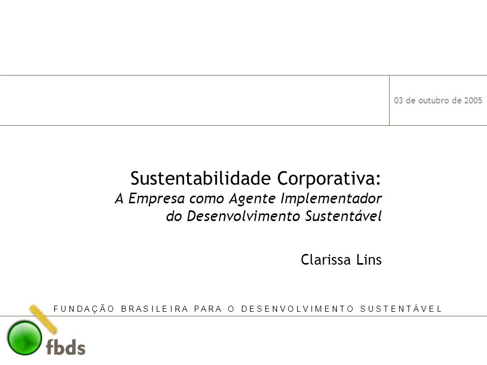 Sustentabilidade Corporativa: