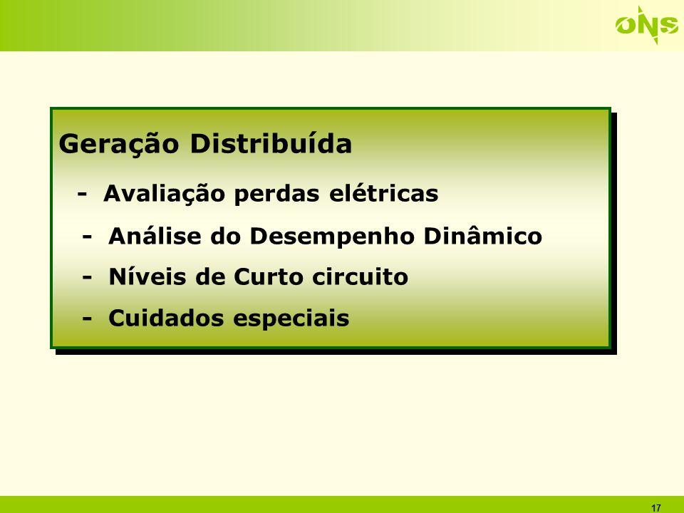 - Avaliação perdas elétricas