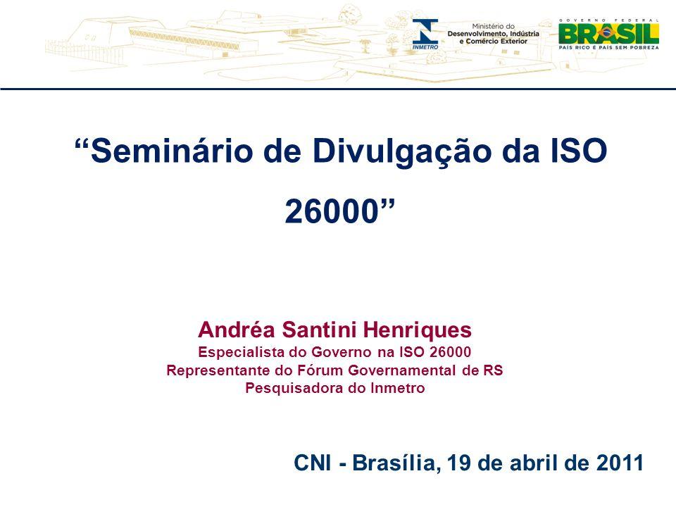 Seminário de Divulgação da ISO 26000