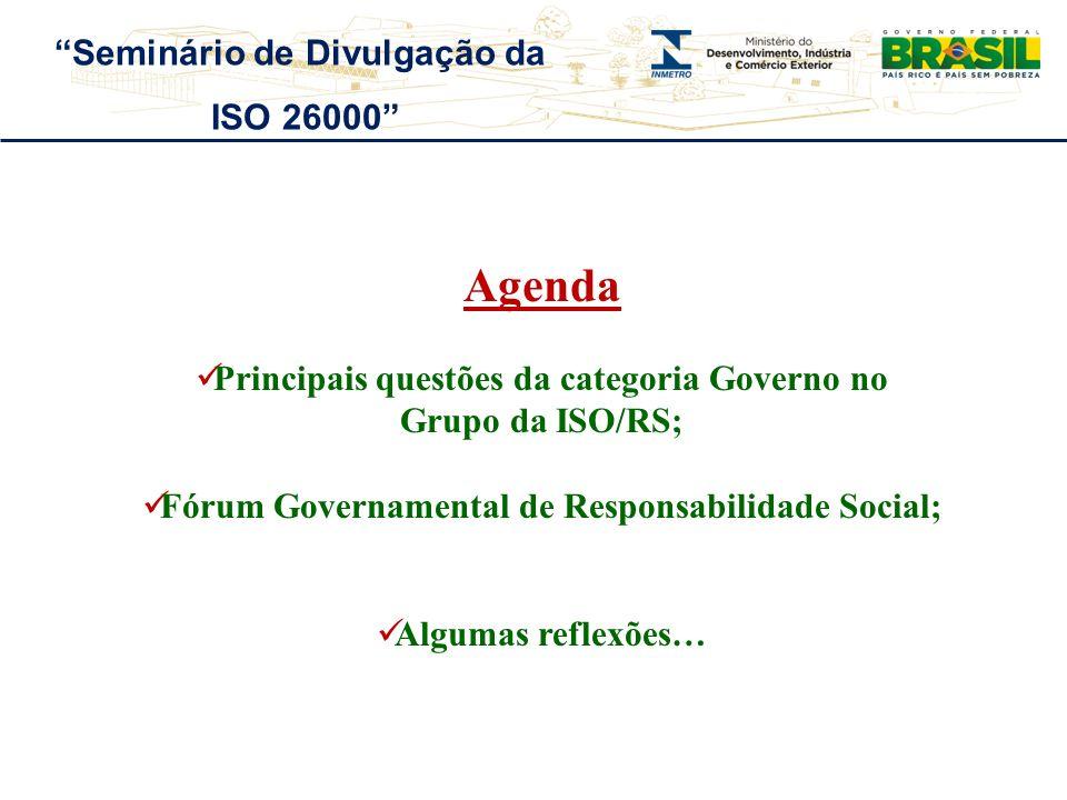 Agenda Seminário de Divulgação da ISO 26000