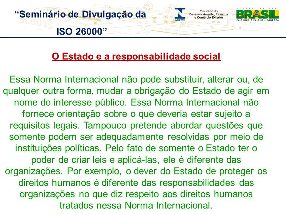 Seminário de Divulgação da O Estado e a responsabilidade social