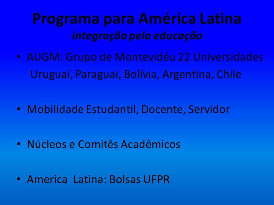 Programa para América Latina integração pela educação