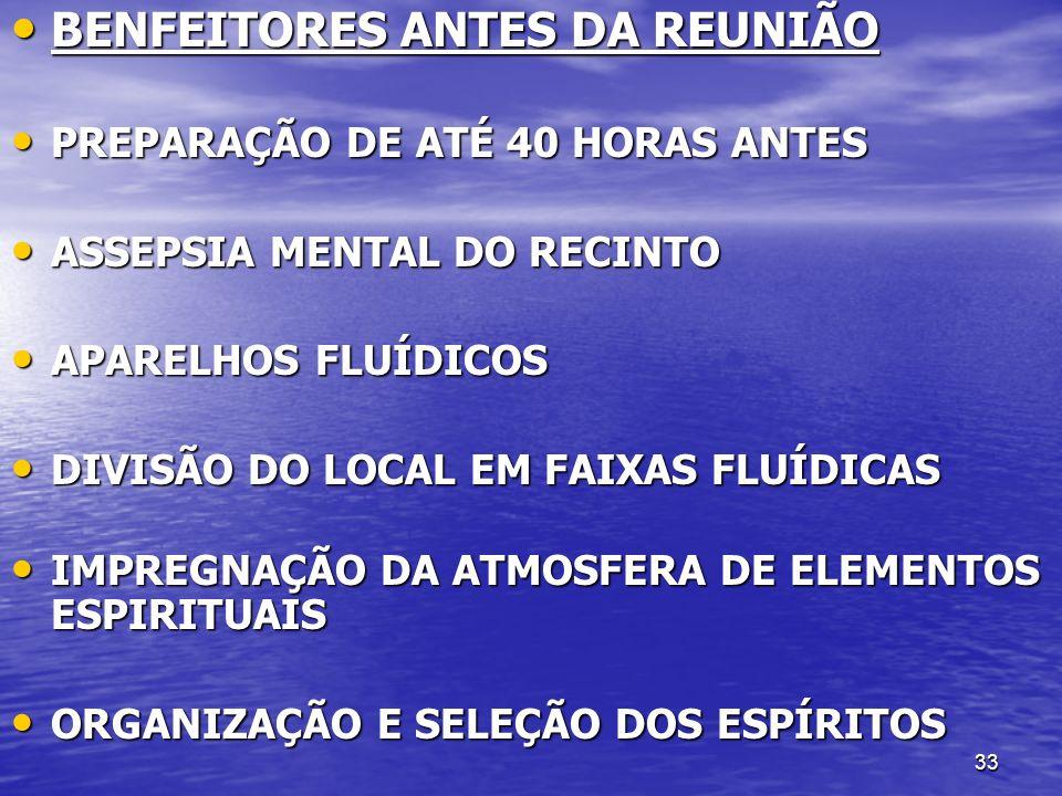 BENFEITORES ANTES DA REUNIÃO