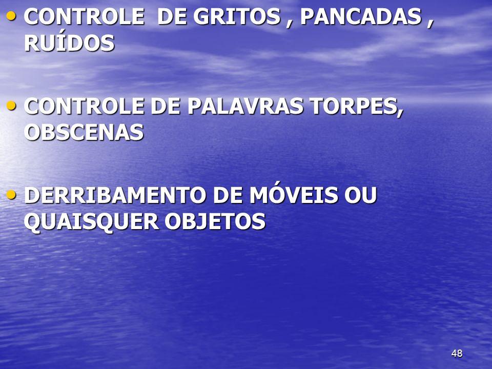 CONTROLE DE GRITOS , PANCADAS , RUÍDOS