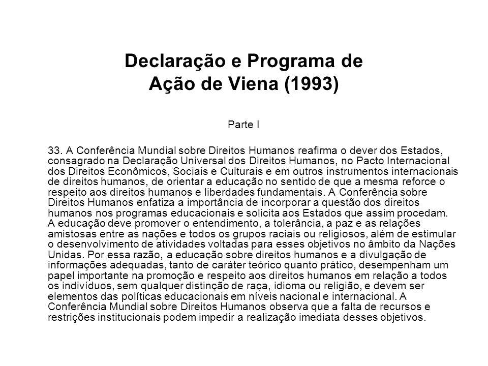 Declaração e Programa de Ação de Viena (1993)