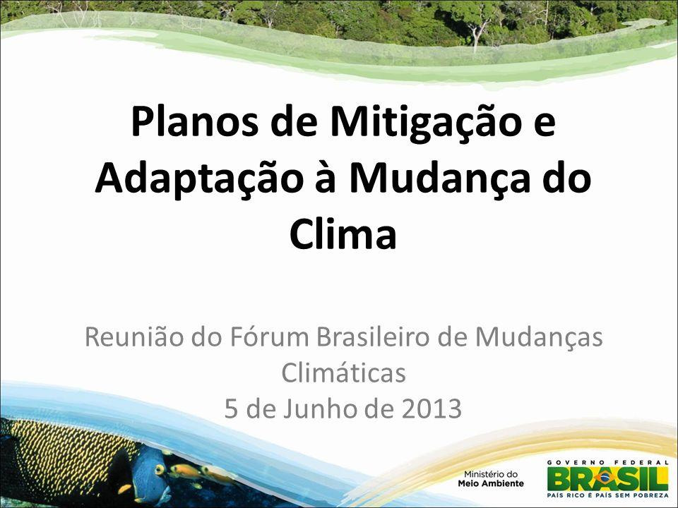 Planos de Mitigação e Adaptação à Mudança do Clima