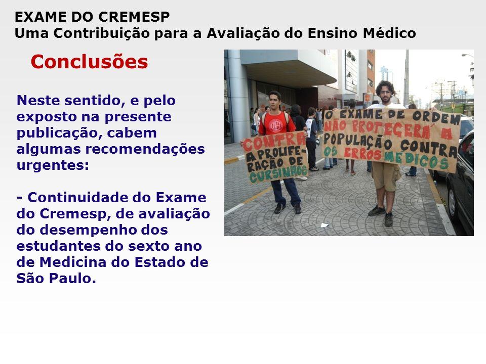 Conclusões EXAME DO CREMESP