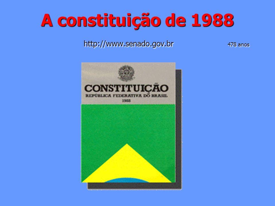 A constituição de 1988 http://www.senado.gov.br 478 anos