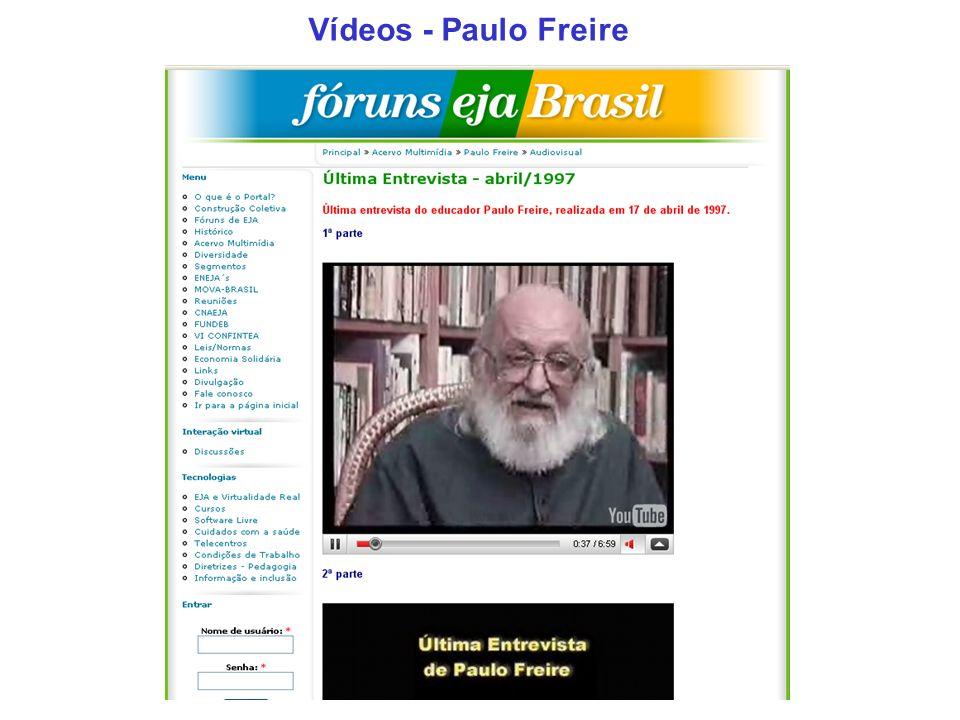 Vídeos - Paulo Freire
