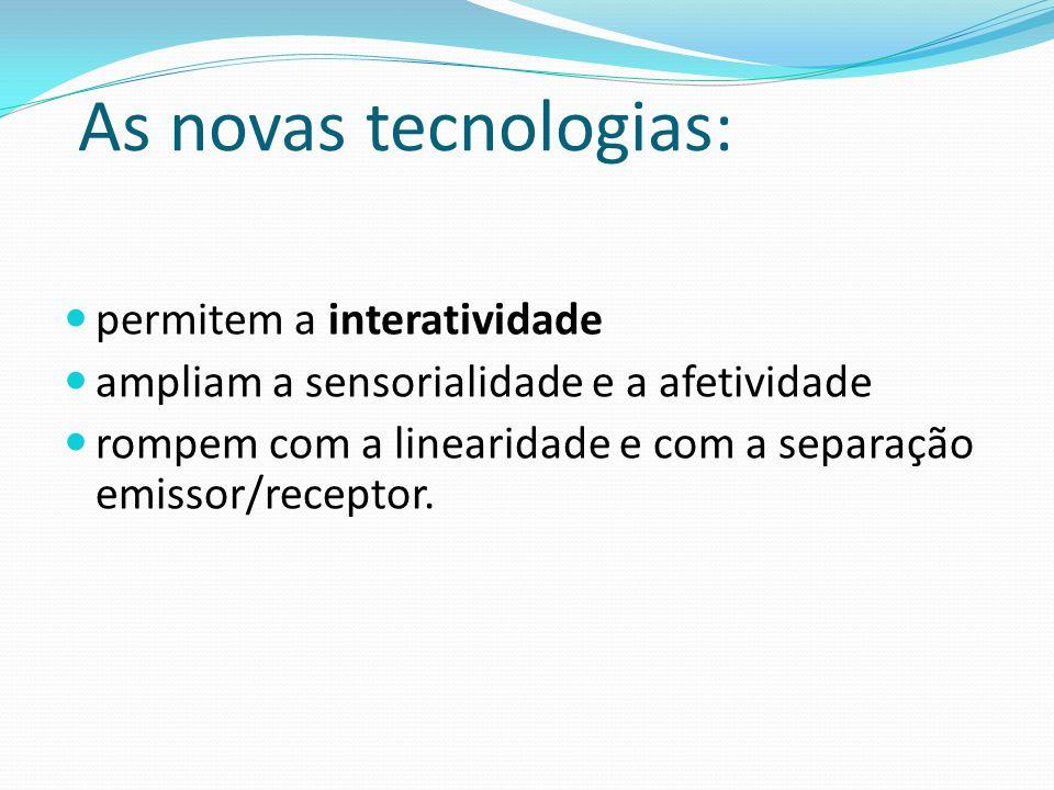 As novas tecnologias: permitem a interatividade