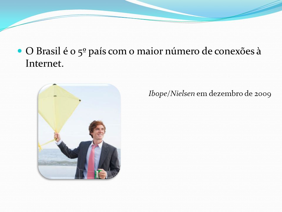 O Brasil é o 5º país com o maior número de conexões à Internet.