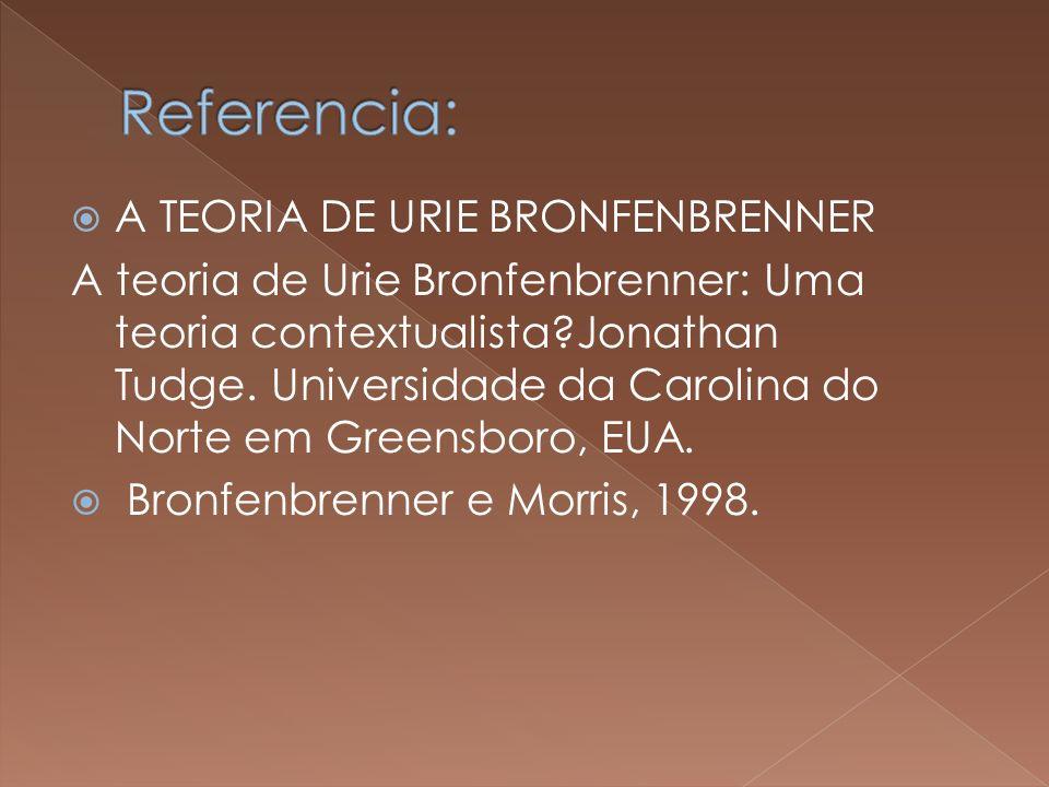 Referencia: A TEORIA DE URIE BRONFENBRENNER