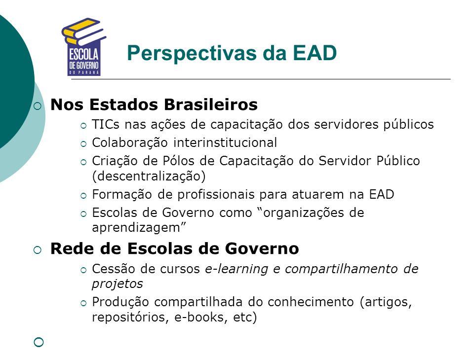 Perspectivas da EAD Nos Estados Brasileiros Rede de Escolas de Governo