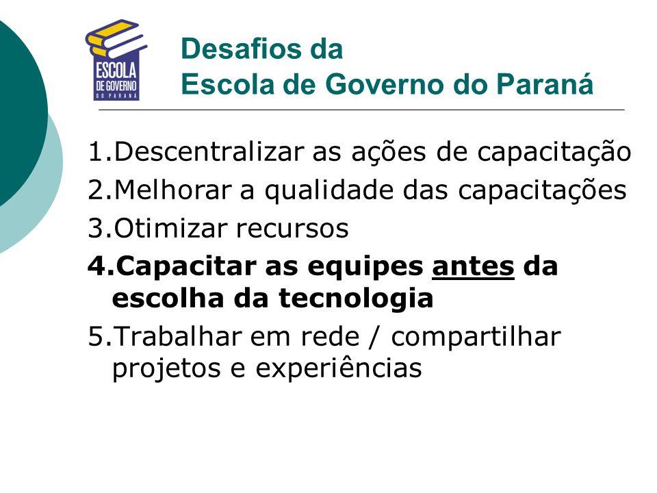 Desafios da Escola de Governo do Paraná