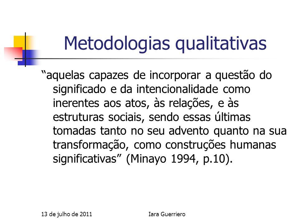 Metodologias qualitativas