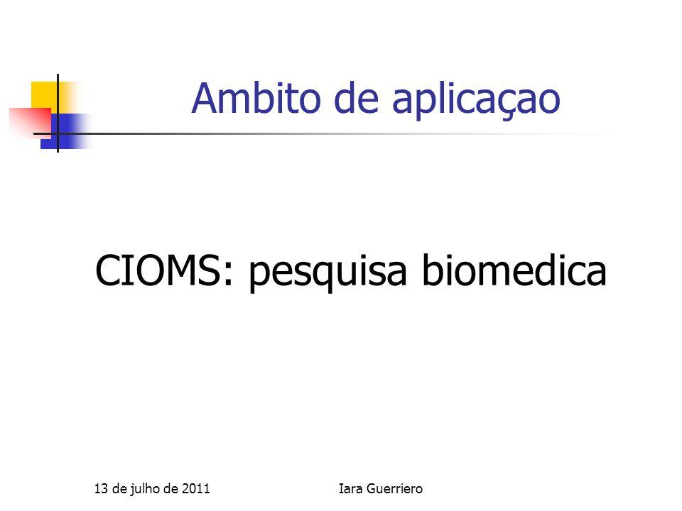 CIOMS: pesquisa biomedica