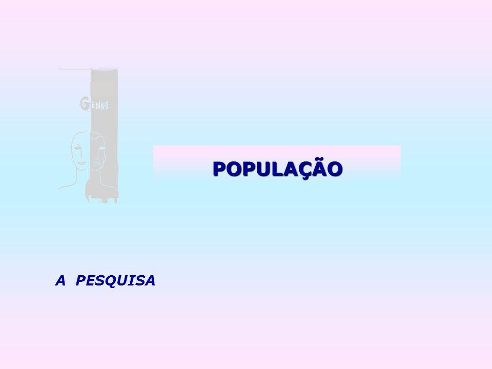 POPULAÇÃO A PESQUISA