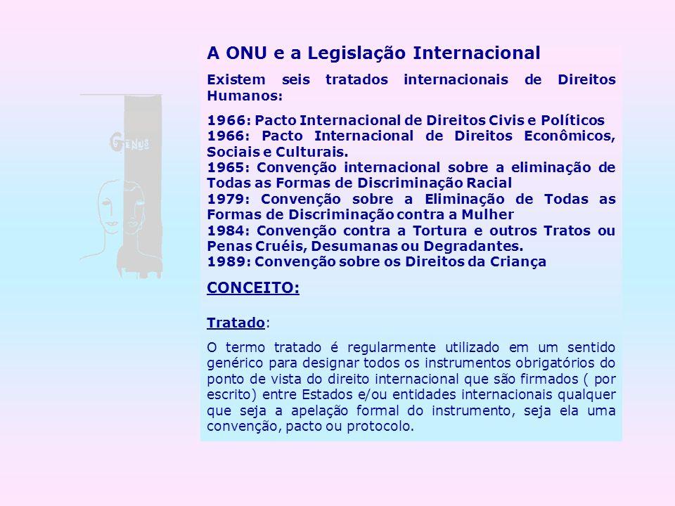A ONU e a Legislação Internacional