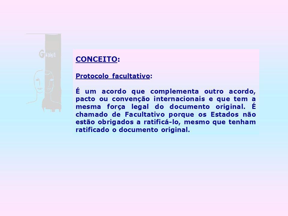 CONCEITO: Protocolo facultativo: