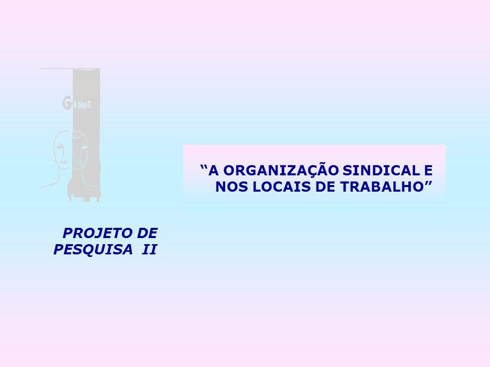 A ORGANIZAÇÃO SINDICAL E NOS LOCAIS DE TRABALHO