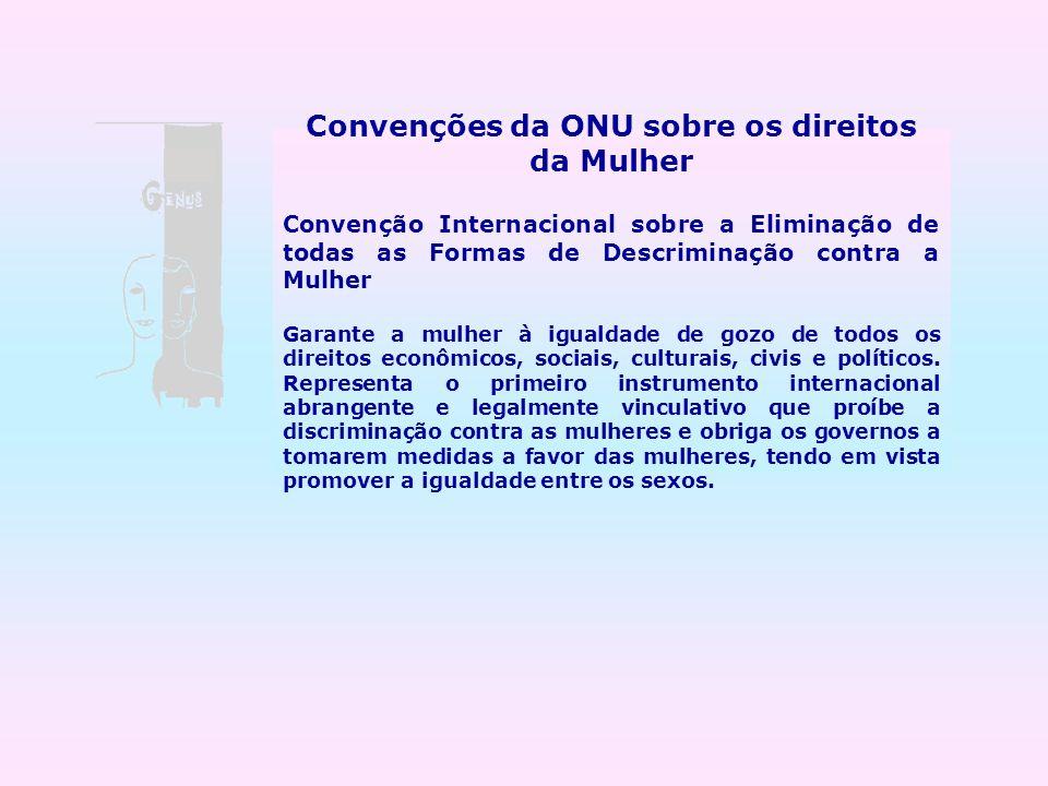 Convenções da ONU sobre os direitos da Mulher
