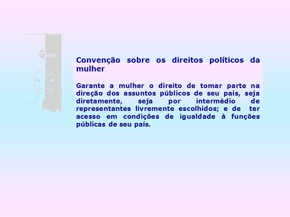 Convenção sobre os direitos políticos da mulher