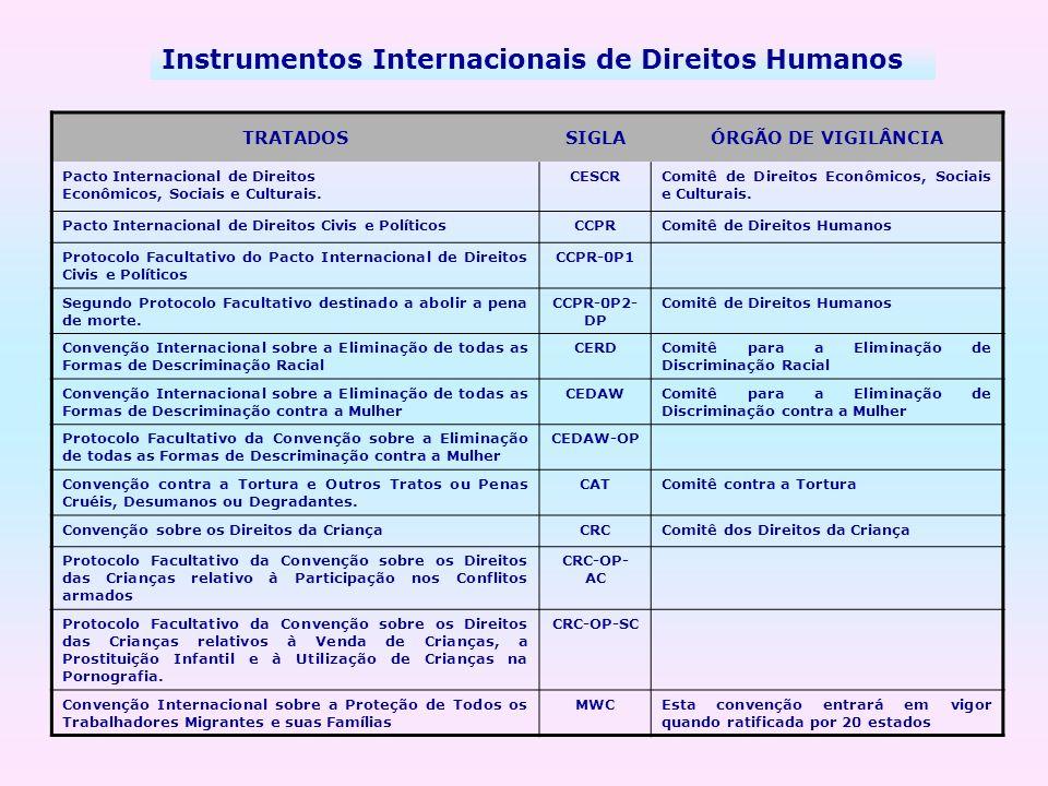 Instrumentos Internacionais de Direitos Humanos