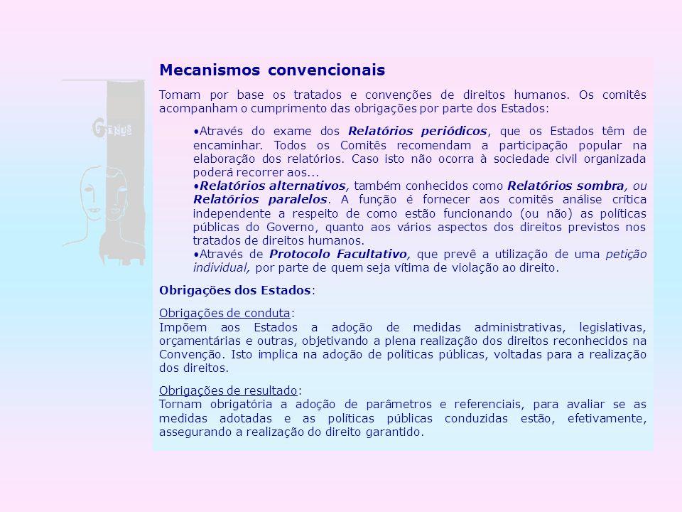 Mecanismos convencionais