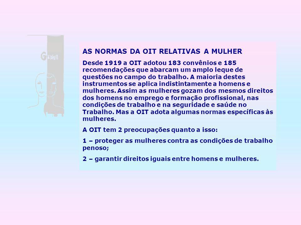 AS NORMAS DA OIT RELATIVAS A MULHER