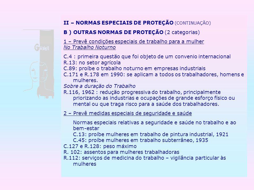 II – NORMAS ESPECIAIS DE PROTEÇÃO (CONTINUAÇÃO)