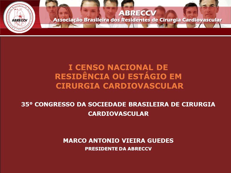 I CENSO NACIONAL DE RESIDÊNCIA OU ESTÁGIO EM CIRURGIA CARDIOVASCULAR
