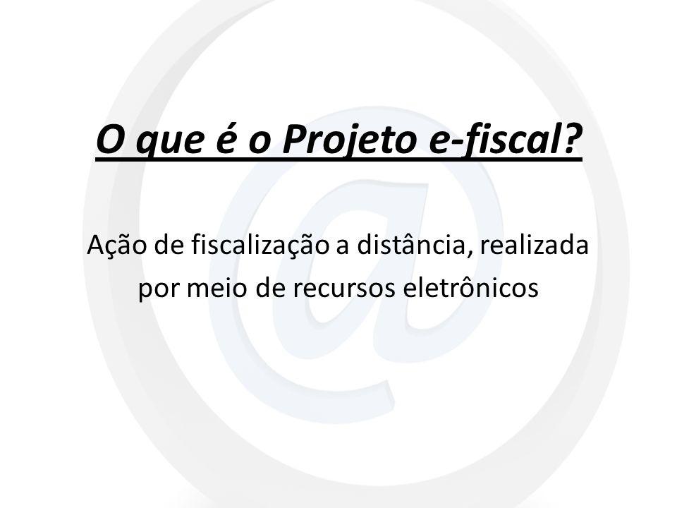 O que é o Projeto e-fiscal