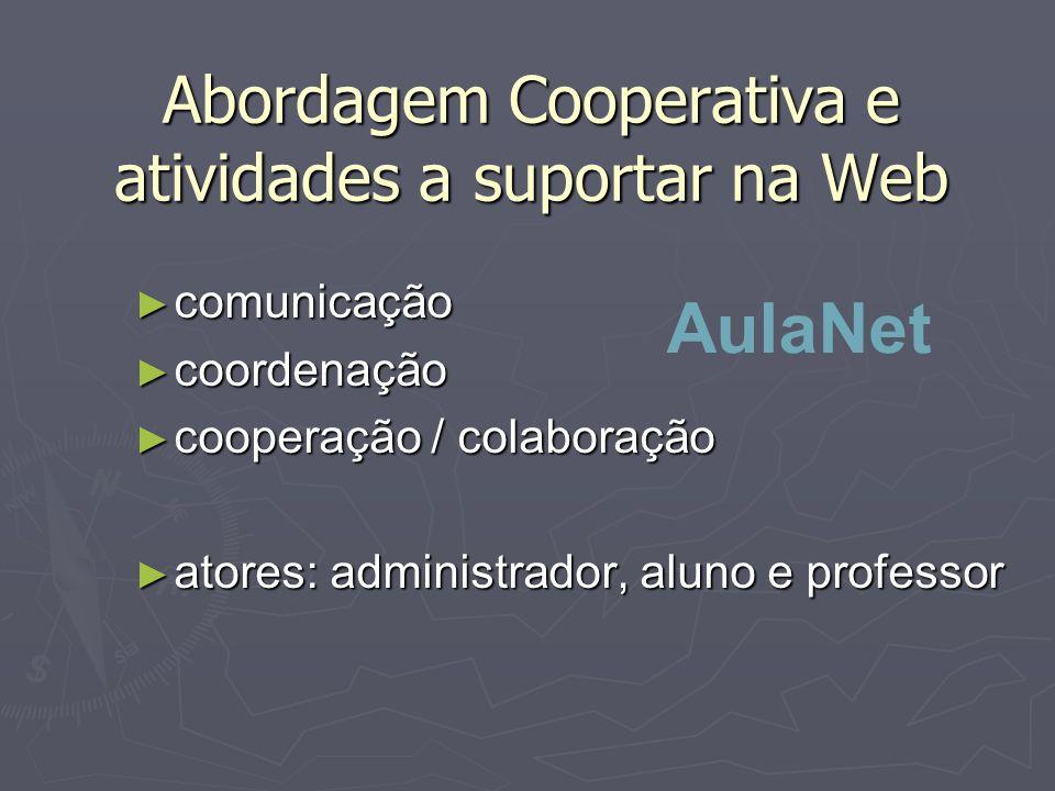 Abordagem Cooperativa e atividades a suportar na Web