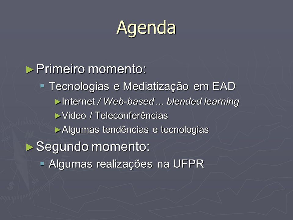 Agenda Primeiro momento: Segundo momento: