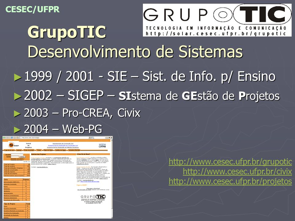 GrupoTIC Desenvolvimento de Sistemas
