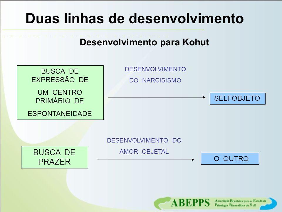 Duas linhas de desenvolvimento Desenvolvimento para Kohut