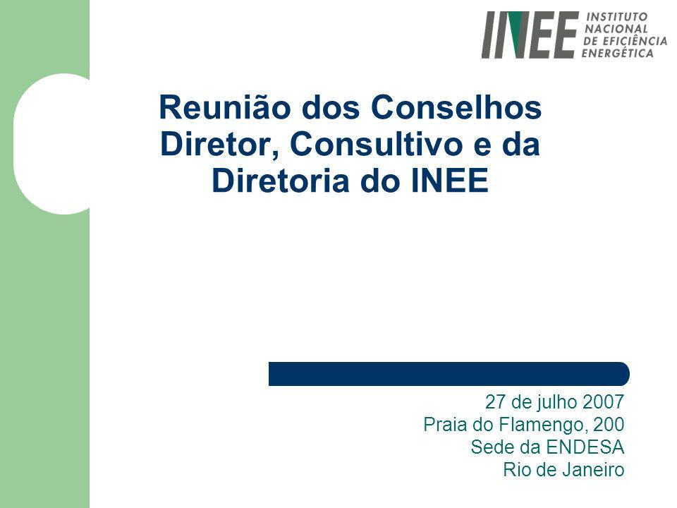 Reunião dos Conselhos Diretor, Consultivo e da Diretoria do INEE