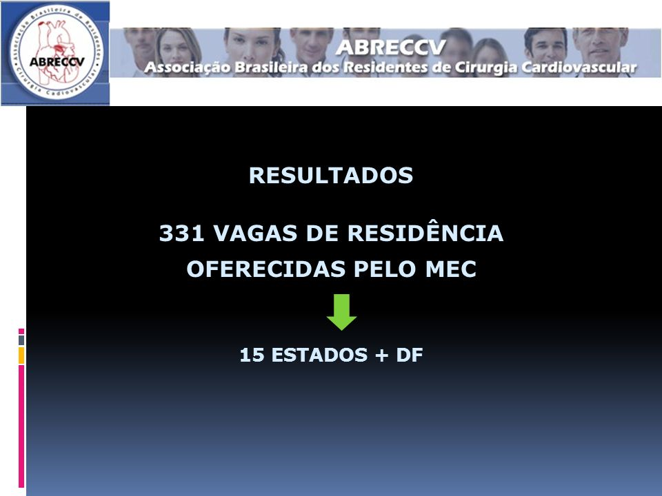 RESULTADOS 331 VAGAS DE RESIDÊNCIA OFERECIDAS PELO MEC