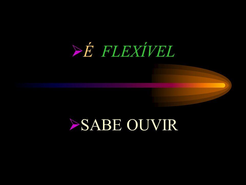 É FLEXÍVEL SABE OUVIR