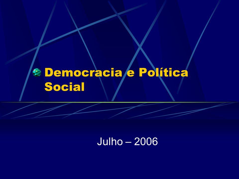 Democracia e Política Social