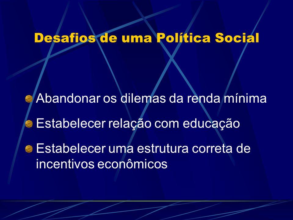 Desafios de uma Política Social