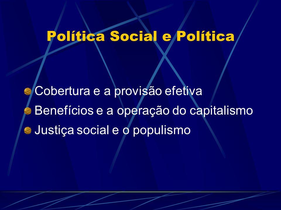 Política Social e Política
