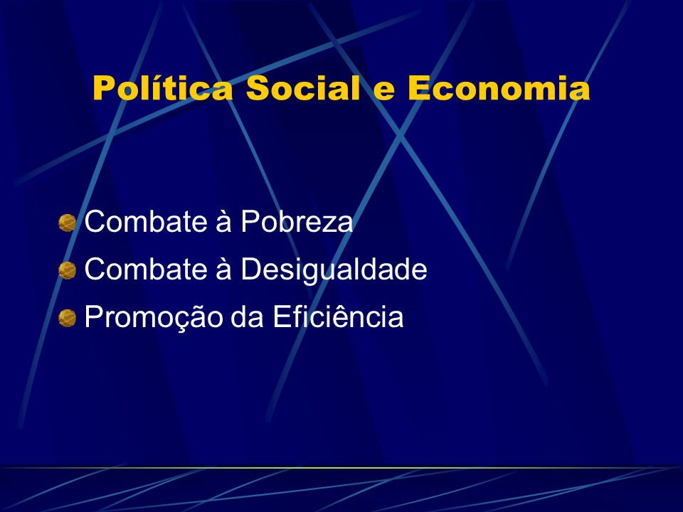 Política Social e Economia