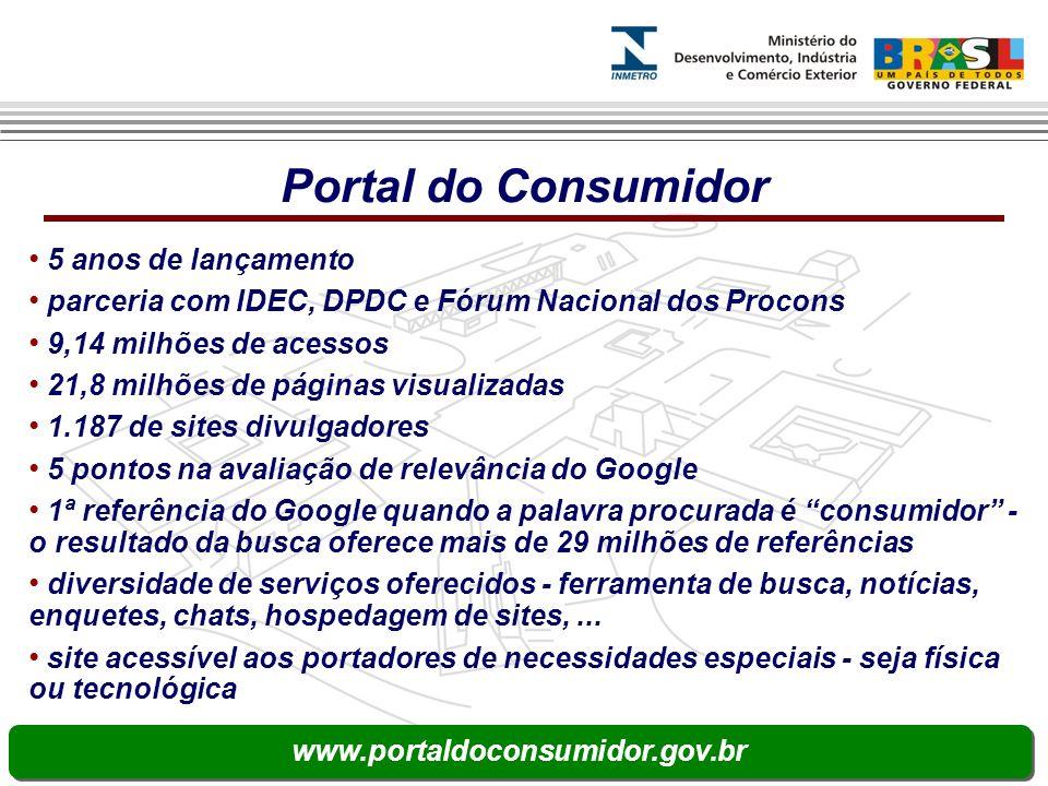 Portal do Consumidor 5 anos de lançamento