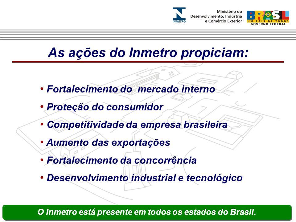 As ações do Inmetro propiciam: