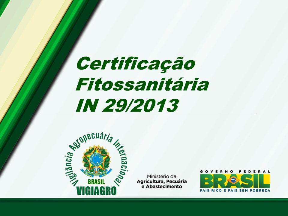 Certificação Fitossanitária IN 29/2013